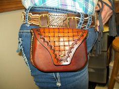 A small belt pouch made at Boulder Creek Saddle Shop, Kettle Falls, WA