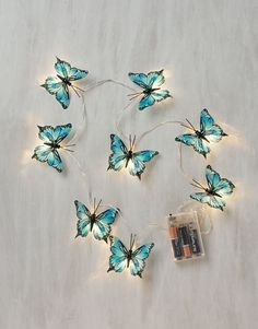 BUTTERFLY CHAIN lightchain turquoise