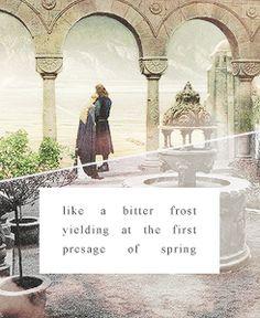 like a bitter frost