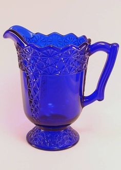 Handmade Glass Tea Pitcher in Queen Pattern