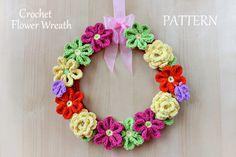 New Pattern ~ Crochet Flower Wreath