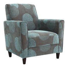 Enzo Sunflower Arm Chair in Blue