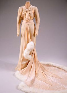 Dress worn by Marjorie Merriweather Post when she married Joseph E. Davies in December 1935.  From the Hillwood Estate