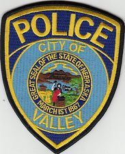VALLEY NEBRASKA POLICE SHOULDER PATCH