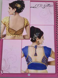 Saree Blouse Neck Designs, Saree Blouse Patterns, Designer Blouse Patterns, Designer Dresses, Patch Work Blouse Designs, Fancy Blouse Designs, Stylish Blouse Design, Salwar Designs, Blouse Models