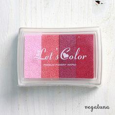 Tinta para sellos scrapbooking multicolor rojo