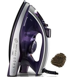 """Panasonic's 1700 Watt Multi-Directional Dual Tip """"360 #Degree"""" Iron with unique """"ALUMITE"""" Soleplate that has a hard and smooth surface #that is free from scratchi..."""