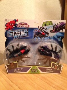 Marvel Ultimate Spider Man Spider Wars Shield Battle Spider vs Venom Spider 4 | eBay