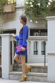 Dress: Twelfth St by Cynthia Vincent, Bag & Earrings: Eddera, Shoes: Seychelles, Bracelet: Suzanna Dai