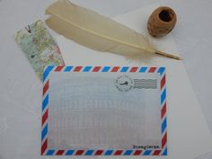 Handmade Rome Theme C5 Self Seal Airmail Envelopes (Pack of 25) by CranerCreations on Etsy