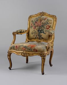 Armchair Tapestry woven at: Beauvais, first half 18th century. French. Gift of J. Pierpont Morgan, 1906. Metropolitan Museum of Art.