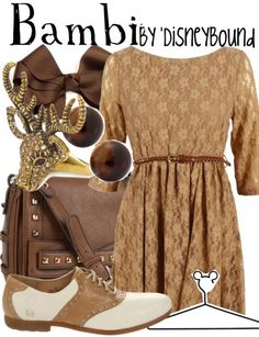 Bambi DisneyBound outfit. Love that dress! | DisneyBound