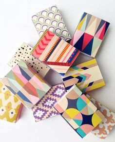 Decorative Matchboxes  set of 9 by BelloPop on Etsy, $18.00
