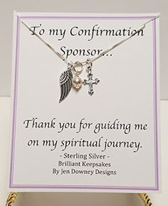 A Wonderful Way To Say Thank You To The Confirmation Sponsor