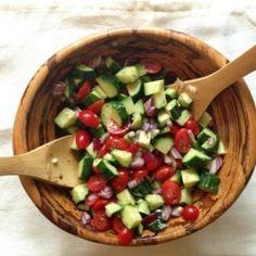 Cucumber Salad Citrus Dill Dressing HealthyAperture.com