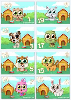 Dominoes Game - Addition Practice Game with Super Cute Animals. Addition Activities, Addition Games, Rainbow Facts, Super Cute Animals, Math Facts, Math Lessons, Math Centers