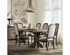 Corsica Rectangle Pedestal 9 Pc Dining Set | Hooker Furniture | Matter Brothers Furniture | Hooker Furniture – Sam Moore – Bradington Young – Seven Seas