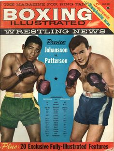 BOXING ILLUSTRATED JULY, 1960 picture perfect for the sports bar or framing, or you just want to walk down memory lane