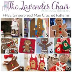 FREE Gingerbread Man Crochet Patterns - The Lavender Chair