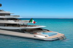 Fincantieri's Private Bay - Top Yacht Design Private Bay, Private Yacht, Big Yachts, Super Yachts, Boat Insurance, Yacht Broker, Float Your Boat, Cool Boats, Yacht For Sale
