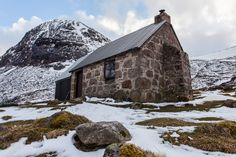A 'bothy' is a remote hut in Scotland, open to anyone who wants to use it. I find them inspiring places, and recently spent a week cycling between them: https://vimeo.com/126241724