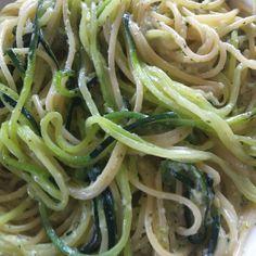 Rezept Spaghetti mit Zucchini-Gorgonzola-Sauce von Colette - Rezept der Kategorie Hauptgerichte mit Gemüse