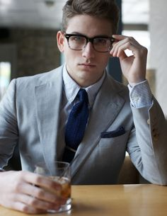 menofhabit: Feature on how to suit up for spring… http://www.menofhabit.com/spring-suiting-less-is-more/ Suit by Ovadia Sons; Shirt by New England Shirt Company; Tie by Polo Ralph Lauren; Pocket Square by Ralph Lauren Black Label; Glasses by Warby Parker.
