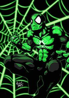 Spider-Man  in Green. ..