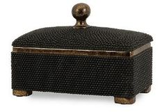 "12"" Caviar Beaded Box, Black $49.00 by One Kings Lane"