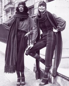 70s fashion on the streets.