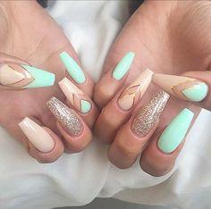Stunning #summer nails . ☎️ 8189851920 get the look look @modernpampersalon ☀️. #nails #nailart #summer #coffinnails #pretty #girly #nailstagram #nailaddict #northhollywood
