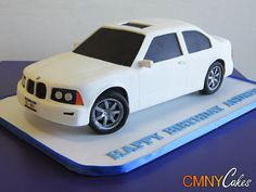 Template For Bmw Car Cake. Car Cakes For Men, Cakes For Women, Cake Decorating Techniques, Cake Decorating Tips, Ambulance Cake, Latest Cake Design, Bmw Cake, Biscuit, Movie Cakes