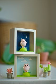 Miniature polymer clay pig animal Polymer clay by JooJooTreasures, so cute Polymer Clay Kunst, Polymer Clay Figures, Polymer Clay Animals, Fimo Clay, Polymer Clay Projects, Polymer Clay Charms, Polymer Clay Creations, Polymer Clay Jewelry, Clay Crafts