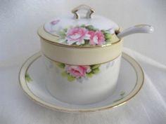 Noritake Nippon Cups Saucers Pansies Vintage Porcelain