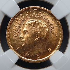 1975 Iran Shah's 1/2 Pahlavi Gold Coin Graded By Ngc Ms 64 Scarce – Gold Stream Boutique