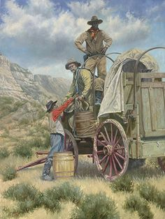 BRENT FLORY by Traveling the West Art Show & Sale Oil on Board ~ ONE LESS HORSE x 40  x  30 Inches