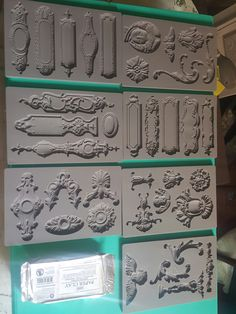 Some of the IOD Moulds & paper clay available at House of Imperfections Diy Arts And Crafts, Handmade Crafts, Paper Crafts, Decoupage Furniture, Diy Furniture, Craft Tutorials, Craft Projects, Decopage, Plaster Art