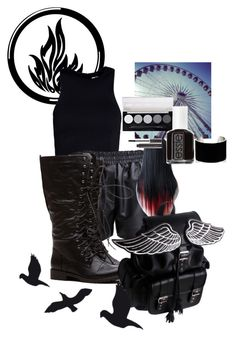 """""""Dauntless"""" by kit-kat-1987 ❤ liked on Polyvore featuring T By Alexander Wang, Acne Studios, L.A. Colors, Essie, Laura Mercier, IaM by Ileana Makri, women's clothing, women's fashion, women and female"""