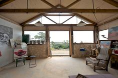 Roof trusses shed rustic with wing chair plywood ceiling