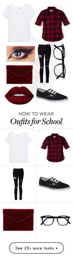 """""""School outfits"""" by trinity-wester on Polyvore featuring Miss Selfridge, Hollister Co., Splendid, Vans, Rebecca Minkoff and Lime Crime"""