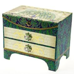 Royal Peacock Jewelry Chest I Just Love These Colors. Looks Like It Would  Make A Neat Little Office Supply Box.