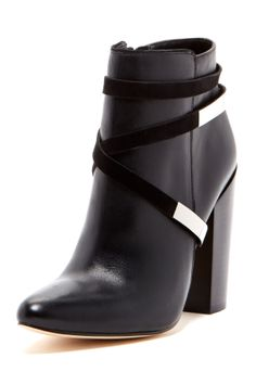 I like how the strap goes under the boot -- Calvin Klein Adriana Bootie
