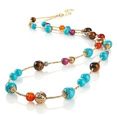 """R.J. Graziano """"World Exotic"""" Long 42"""" Beaded Necklace"""