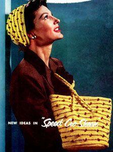 Hat & Bag Set (vintage pattern)