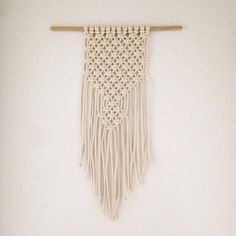 { Bison } is a bold and strong macrame wall hanging, perfect piece to make a statement. Handmade using the simple Square Knot technique with an