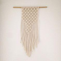 Macrame curtain handmade macrame wall hanging ecru - Nudo para tendedero ...