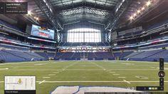 Lucas Oil Stadium Indianapolis. Tour virtuale: https://www.google.com/maps/@39.760262,-86.163747,3a,75y,24.91h,100.58t/data=!3m5!1e1!3m3!1sn4G6VBeJbzf--RhRQqg6IA!2e0!3e2