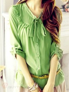 Buttoned Blouse   #fall  #buytrends  #blouse