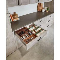 Rev-A-Shelf Wood Spice Adjustable Drawer Organizer Modern Kitchen Cabinets, Kitchen Drawers, New Kitchen, Kitchen Dining, Kitchen Decor, Kitchen Ideas, Cabinet Drawers, Kitchen Inspiration, Kitchen Interior