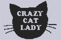 Crazy Cat Lady Cross Stitch Pattern | Craftsy